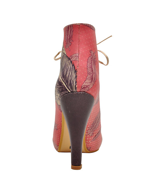 Dogo Shoes Ankle Boots Bootie feathers mehrfarbig