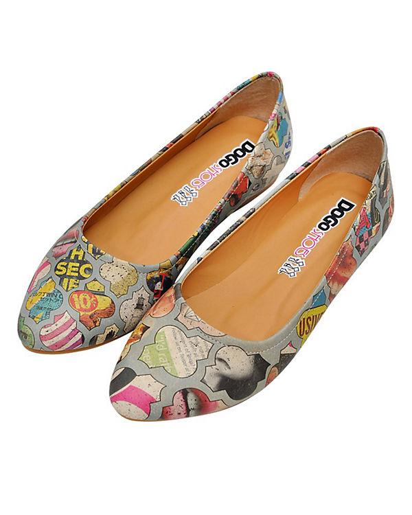 Dogo Shoes Klassische Ballerinas Collage mehrfarbig