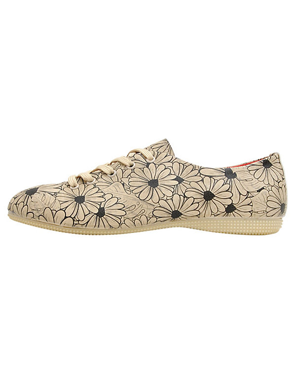 Dogo Shoes Schnürschuhe Flowers mehrfarbig