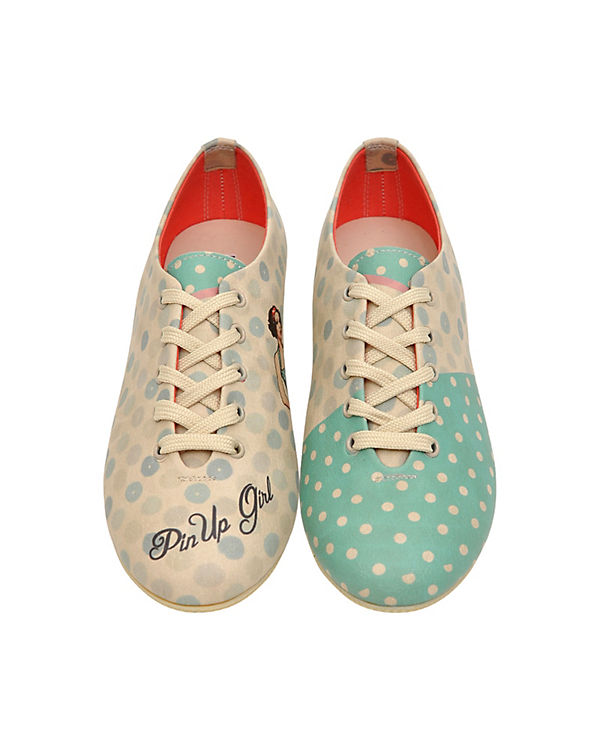 Dogo Shoes Schnürschuhe pin up girl mehrfarbig