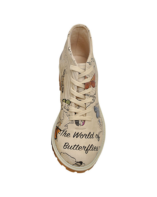 Dogo Shoes Klassische Stiefeletten World of Butterflies mehrfarbig