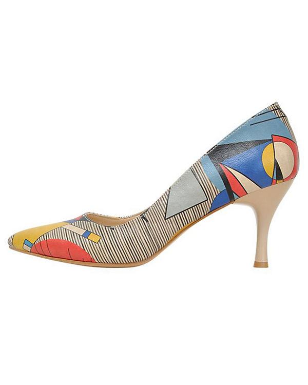 Dogo Shoes Klassische Pumps Geo lines mehrfarbig