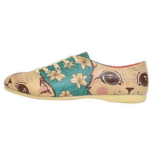 Dogo Shoes Schnürschuhe Lily The Cat mehrfarbig...