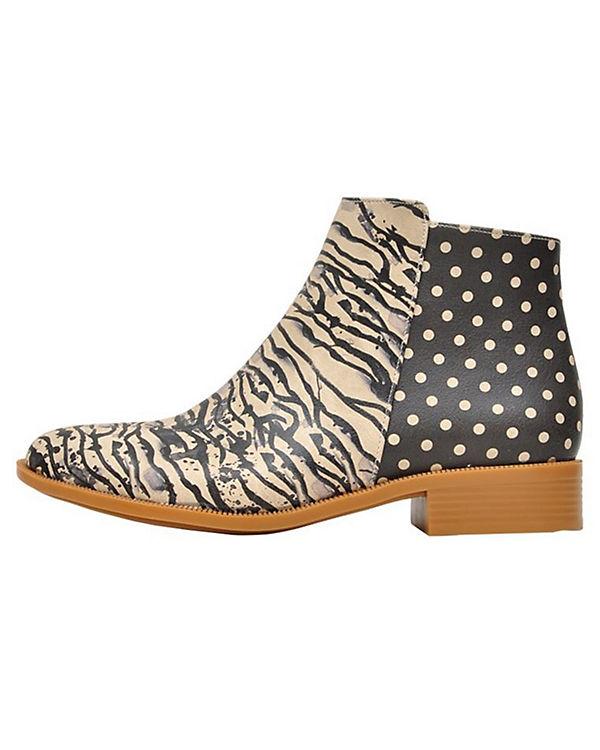 Dogo Shoes Schlupfstiefeletten Zebra illusion mehrfarbig