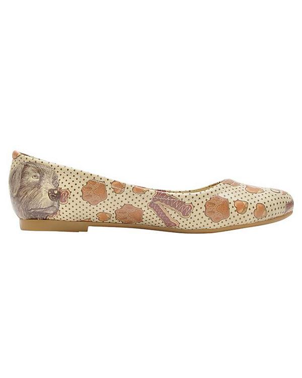 Dogo Shoes Klassische Ballerinas Dogs & Cookies mehrfarbig
