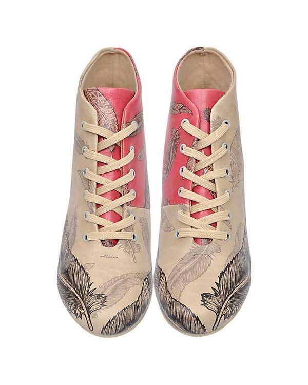Dogo Shoes Schnürstiefeletten Feather mehrfarbig