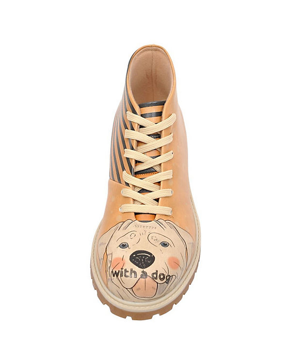 Dogo mehrfarbig Dog Better Is Life a With Shoes Schnürstiefeletten fvPfOqAr