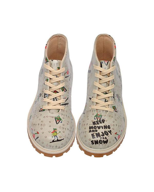 Dogo Shoes, Schnürstiefeletten Enjoy Snow, the Snow, Enjoy mehrfarbig d21225