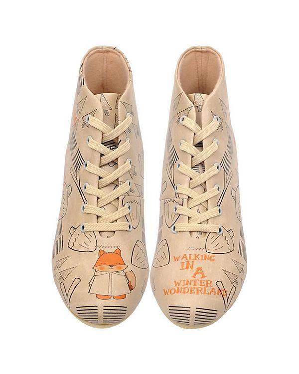 Dogo Shoes Schnürstiefeletten Walking In a Winter Wonderland mehrfarbig