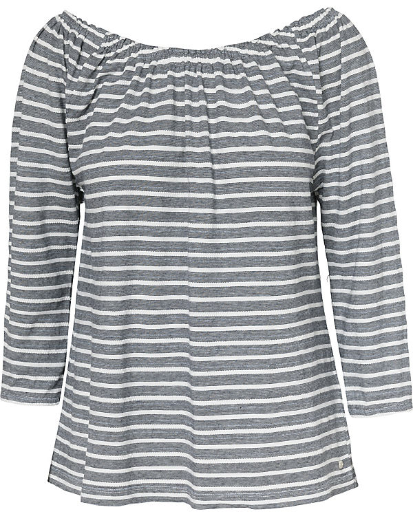 Marc O'Polo 3/4-Arm-Shirt grau