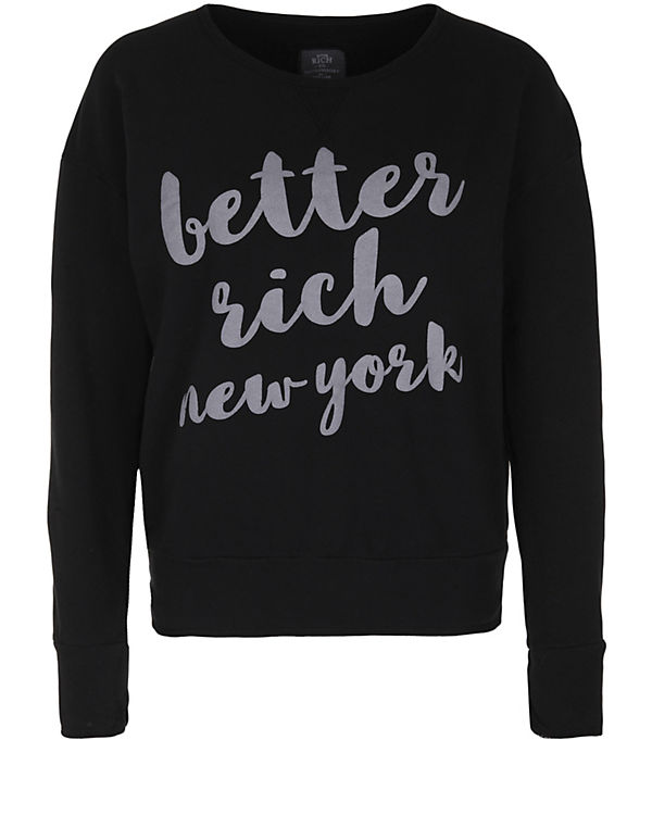 Better Rich Sweatshirt CREW SWEAT schwarz