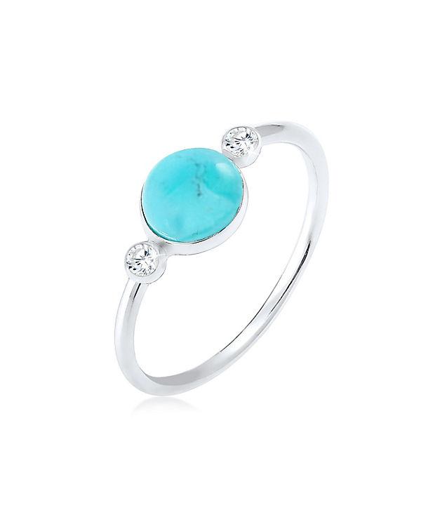 Elli Elli Silber Ring Gipsy Trend Blogger Zirkonia Howlith 926 silber