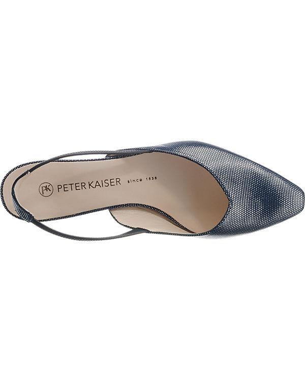 PETER Sling PETER blau Ballerinas KAISER KAISER CARSTA Id6If
