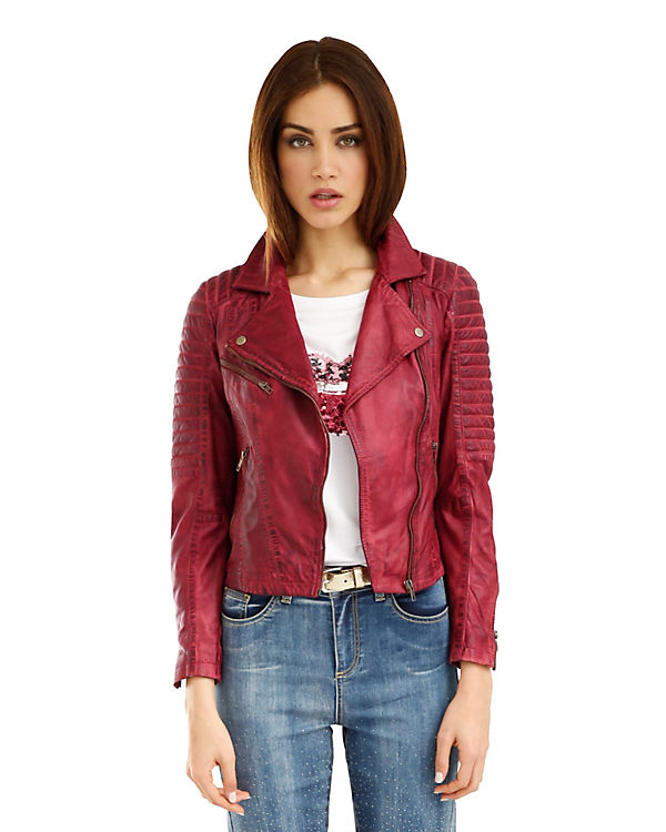 Amy Amy rot Vermont Lederjacke Vermont OOY8nr5qWw