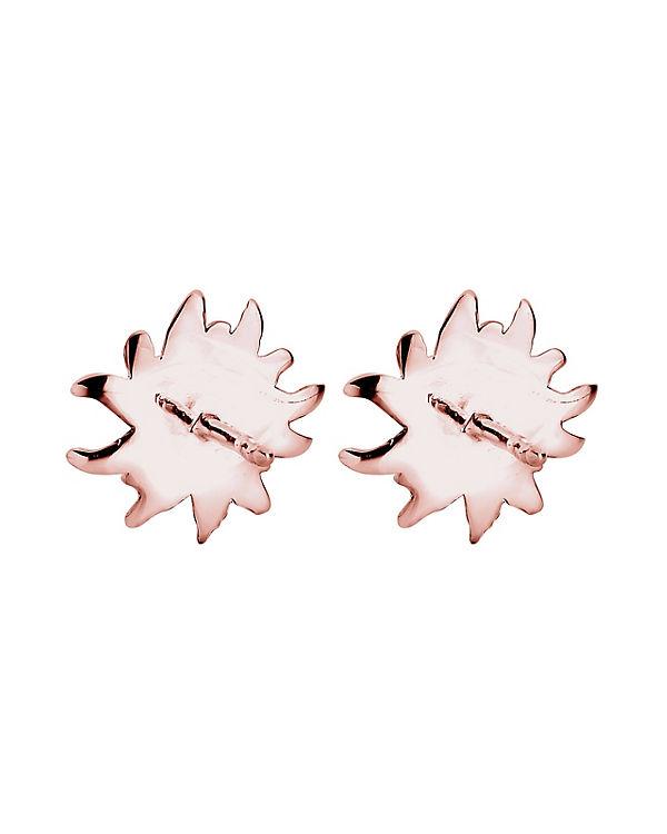 Elli Ohrringe *WIESN SPECIAL* Edelweiss Filigran 925 Silber rosa