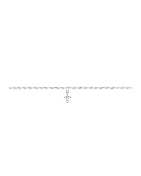 Elli Halskette Kreuz Religion Choker Trend Zirkonia 925 Silber silber