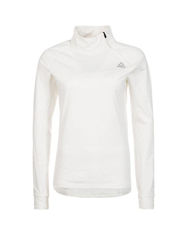 Zip Hexawarm Langarmshirt Reebok 4 Reebok weiß 1 Trainingsshirt nxX87w44qa