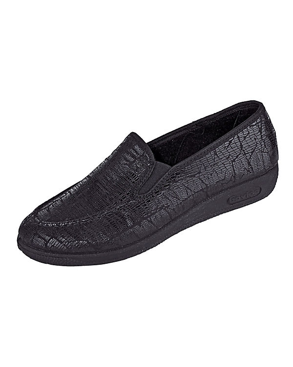 Naturläufer Komfort-Slipper schwarz
