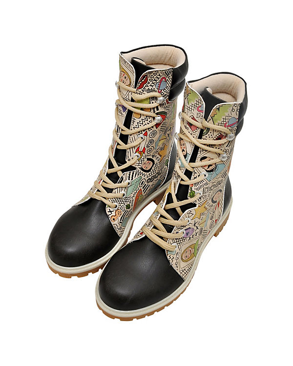 Dogo Shoes Schnürstiefel Super Boots mehrfarbig
