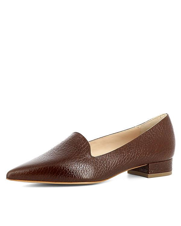 Klassische Slipper Shoes Evita braun FRANCA CpSZqwa