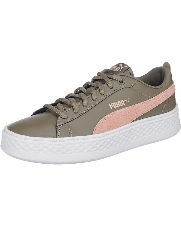 Platform Puma Sneakers PUMA Smash khaki L Low qBCWfEw