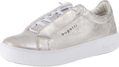 Bugatti Slip-On Sneaker, mit Zierschnürung, silber, 36 36