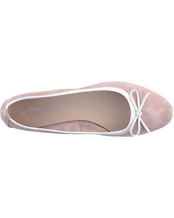 Tamaris Ballerinas Klassische rosa weiß Ballerinas Ballerinas Klassische Klassische Tamaris weiß rosa Tamaris rosa 8xdqZw