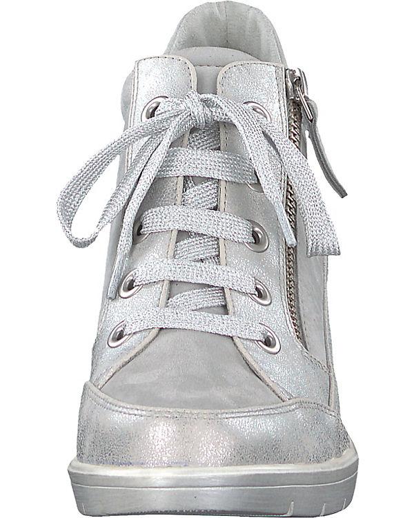 Tamaris Sneakers High silber-kombi