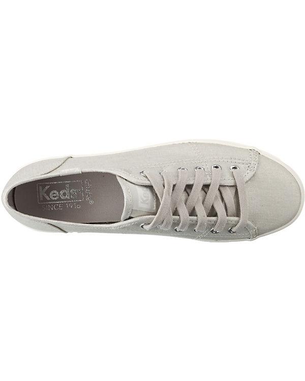 Keds, Kickstart Low, Metallic Linen Silver Sneakers Low, Kickstart silber 89b59a