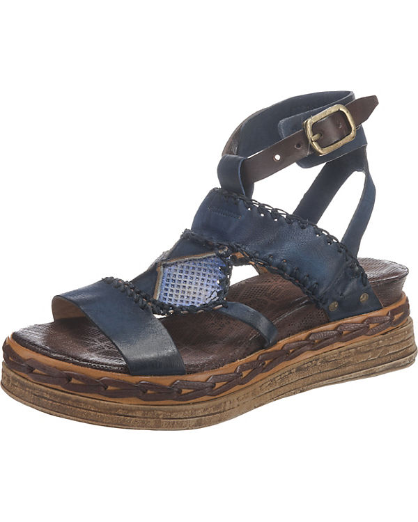 A.S.98 Klassische Sandaletten dunkelblau