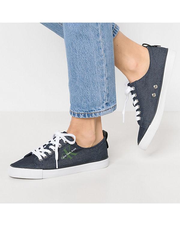 DORA Low KLEIN CALVIN Sneakers JEANS CALVIN blau KLEIN DENIM O7n6B
