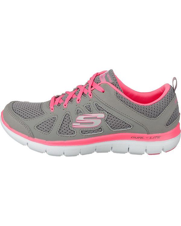 SKECHERS Flex Appeal 2.0 Simplistic Sneakers Low grau-kombi