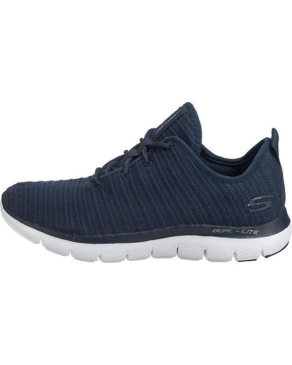 2 Sneakers 0 Flex Estates Low Appeal dunkelblau SKECHERS wagTE8q