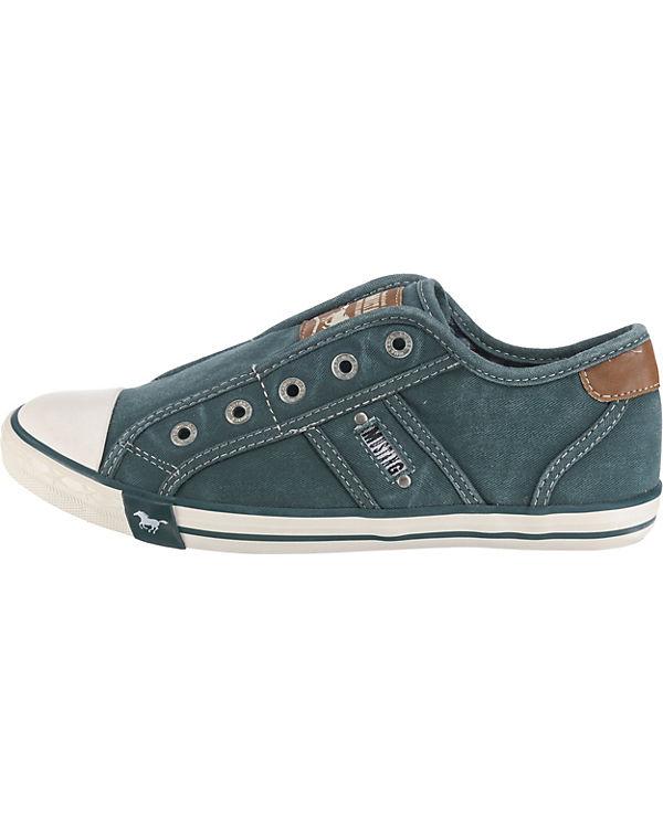 Sneakers Sneakers blau grün MUSTANG MUSTANG Low grün Low blau MUSTANG x6wYqI7