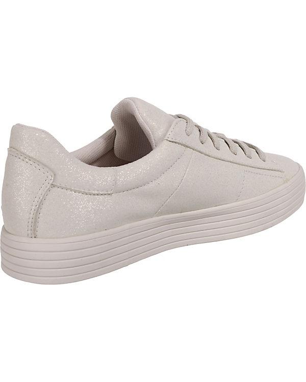 Glitter Sneakers weiß grau ESPRIT LU Sita Low B5ZFFfqHw