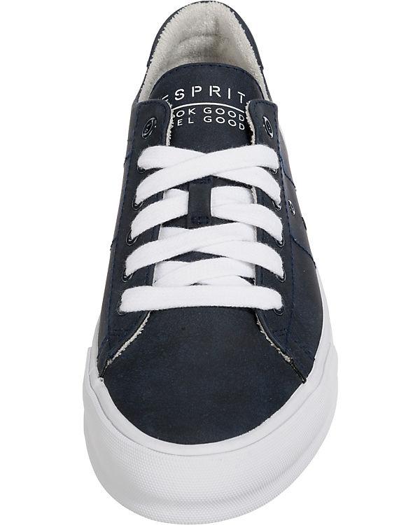 ESPRIT, Simona Lace up Sneakers blau Low, blau Sneakers e5f6f2