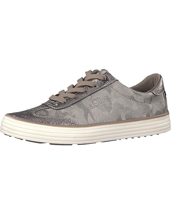 Sneakers Oliver s grau Low kombi F5UTw75q