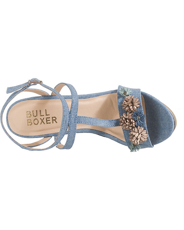 BULLBOXER Keilsandaletten blue denim Keilsandaletten BULLBOXER denim BULLBOXER blue Keilsandaletten rrwqBSd