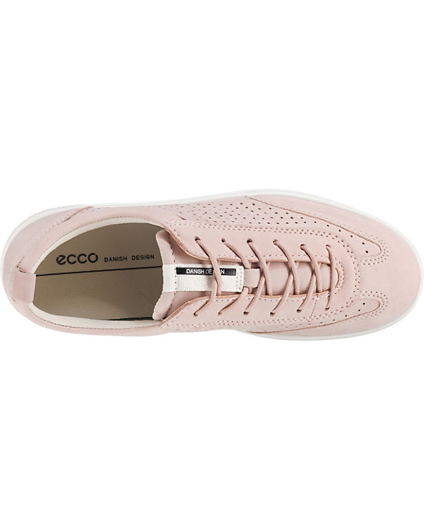 ecco Soft 1 White Droid Sneakers Low rosa