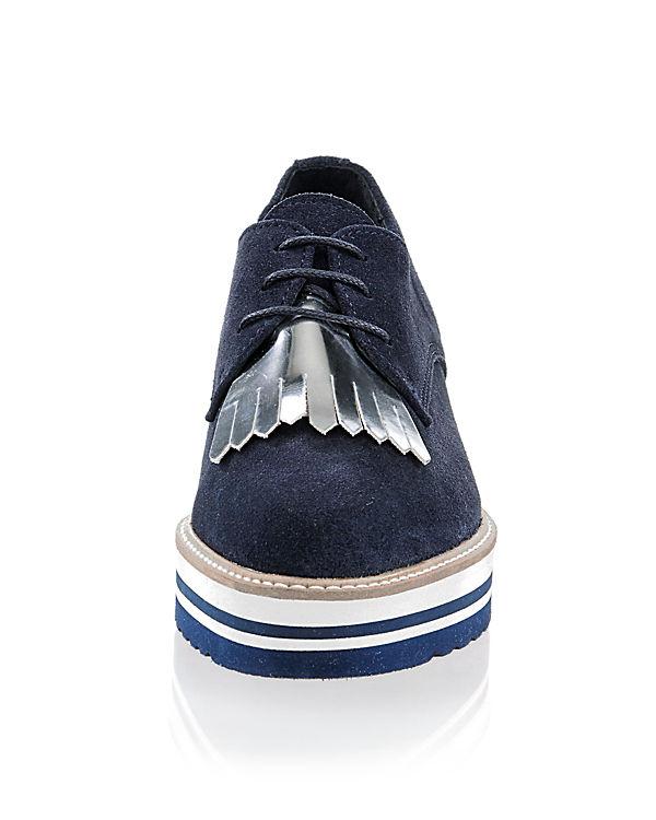 Alba Moda Schnürschuhe dunkelblau