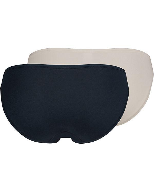 Skiny Slips Doppelpack Advantage Cotton dunkelblau
