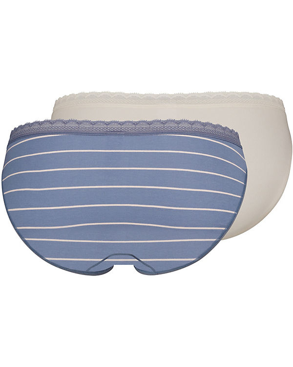 Skiny Slips Doppelpack Advantage Lace blau