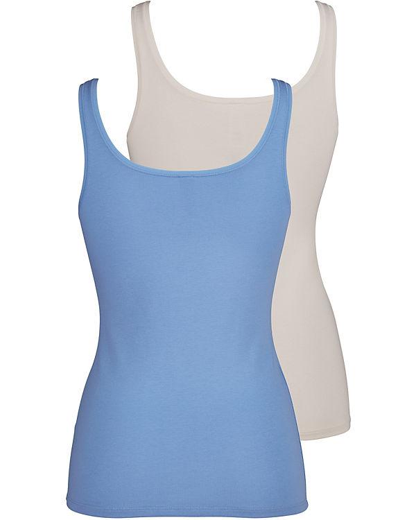 Skiny Tank Top Doppelpack Advantage Cotton blau