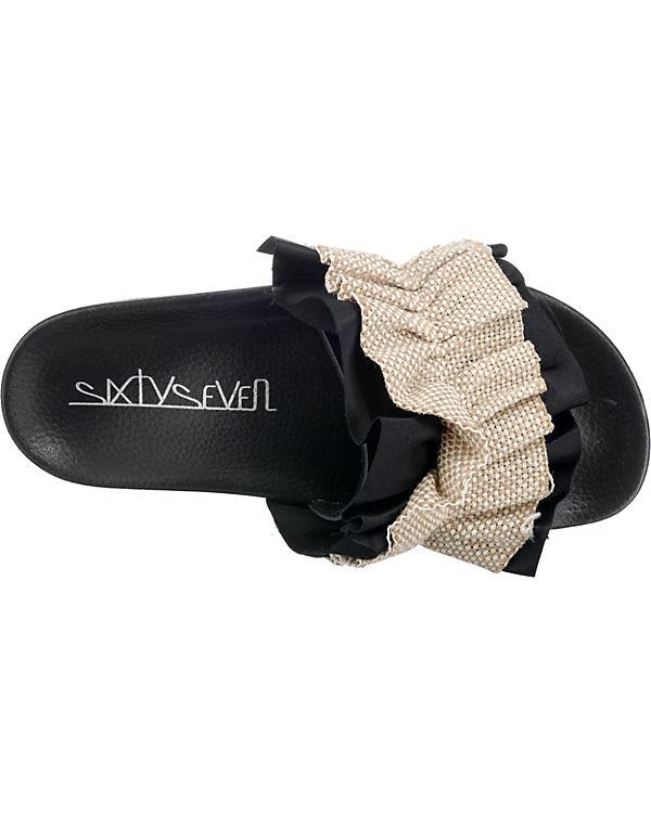 Sixtyseven XALI Pantoletten schwarz/beige