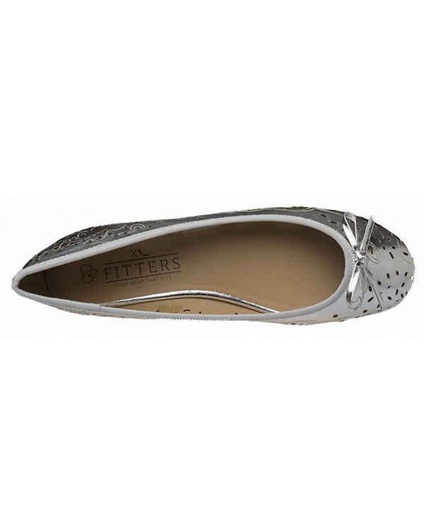 Fitters Footwear, Klassische Ballerina Ballerina Klassische Zoe, silber c710e2