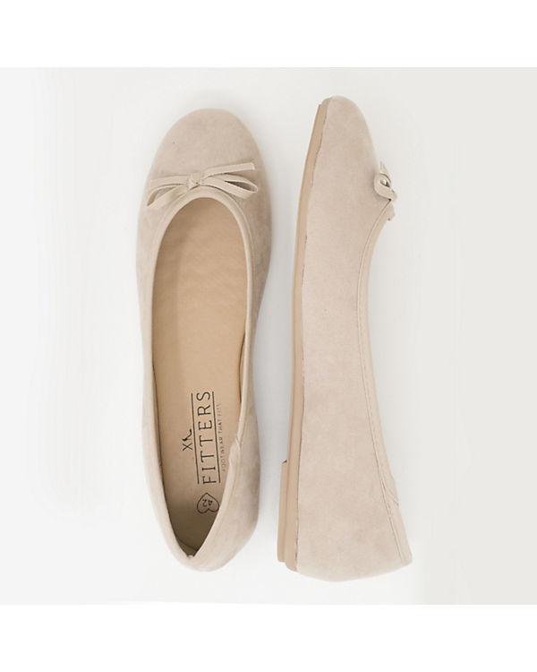 Fitters Footwear Klassische Ballerina Helen beige