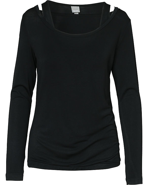 BENCH Langarmshirt schwarz