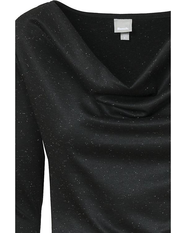BENCH Jerseykleid schwarz