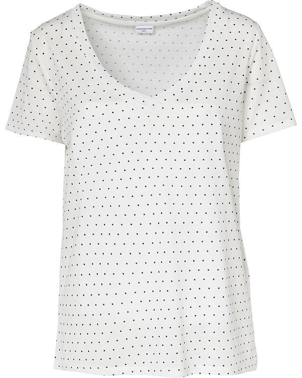 Jacqueline de Yong T-Shirt schwarz/weiß