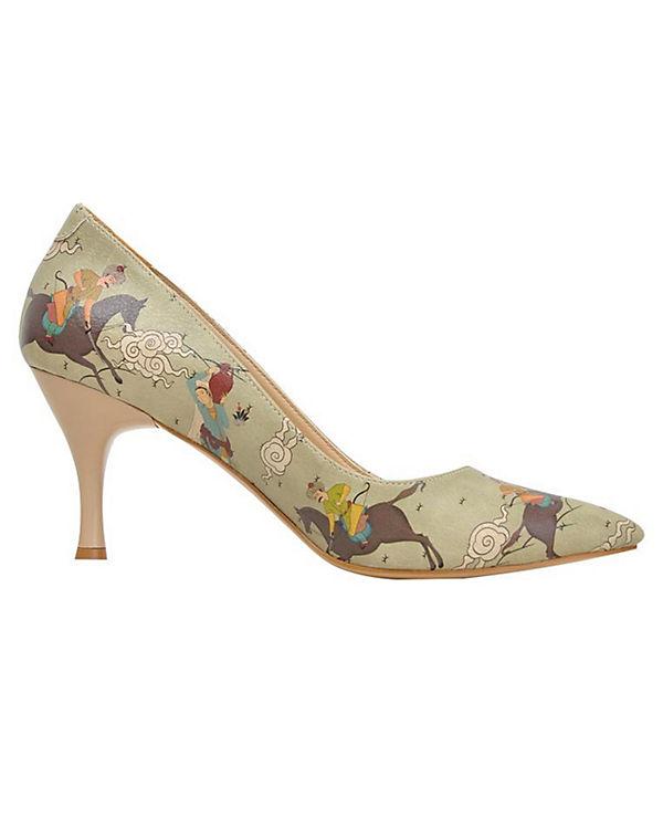 grün Klassische kombi Shoes Dogo Pumps v5tWx
